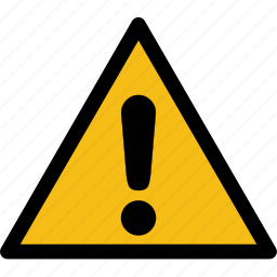 alarm, caution, danger, error, exclamation, hazard, problem icon