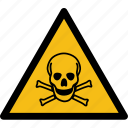 alarm, caution, danger, death, error, schedule, skull icon