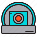 cam, camera, dome, security, standard icon