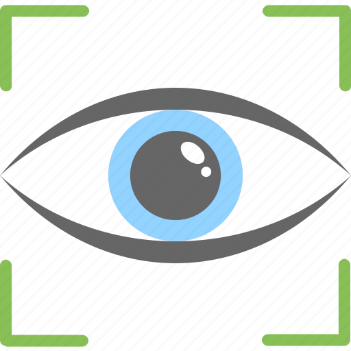 eye focus, eye tracking, monitoring, scanning, target symbol icon