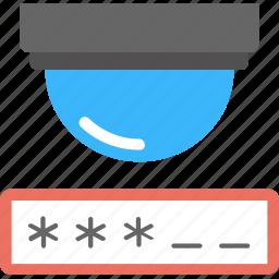 cctv, dvr login, password, security system, surveillance icon