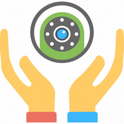 cctv monitoring, hands holding, monitoring, security concepts, surveillance icon