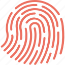 access control, biometric system, biometrics, fingerprint, scanner icon