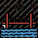 bridge, celebration, firework, new, year