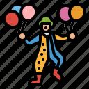 birthday, clown, comedian, joker, party