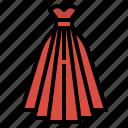 clothing, dress, elegant, fashion, garment icon