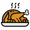 chicken, food, leg, roast, turkey