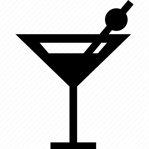 alcohol, cocktail, glass, luxury, martini, sraw icon