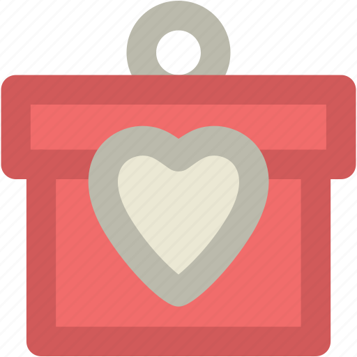 Gift Box Present Valentine Wrapped Icon