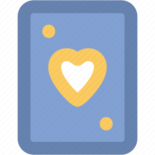 casino card, heart card, playing card, poker card, suit card icon