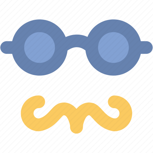 costume, disco, funny, glasses, hipster mask, moustache, party props icon