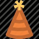birthday cap, birthday clown, birthday cone hat, cone hat, party cap, party cone hat