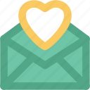 envelope, heart, letter, love letter, valentine greeting icon