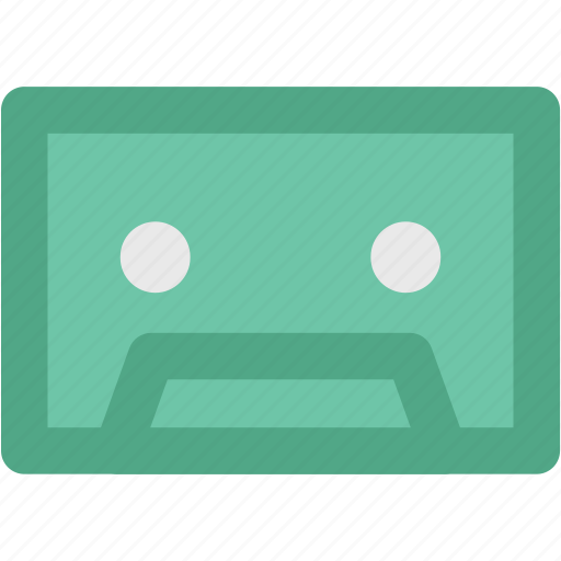 audio tape, cassette, cassette tape, compact cassette, musicassette, tape icon