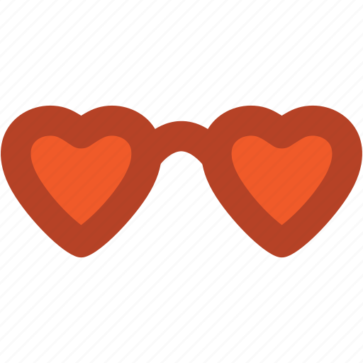 eyeglass, glasses, heart glasses, shades, spectacles, sunglasses icon