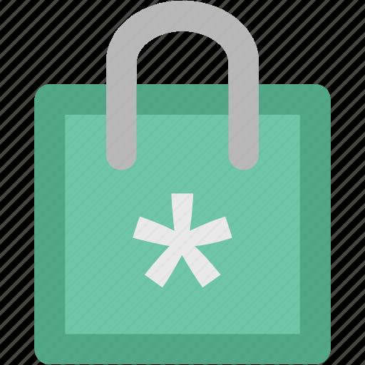 christmas shopping, paper bag, shopper bag, shopping bag, snowflake, supermarket bag, tote bag icon