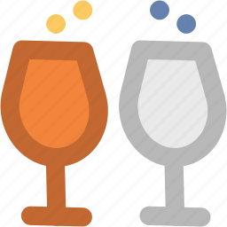 alcohol, cheers, drinks, toasting, wine, wine glasses icon
