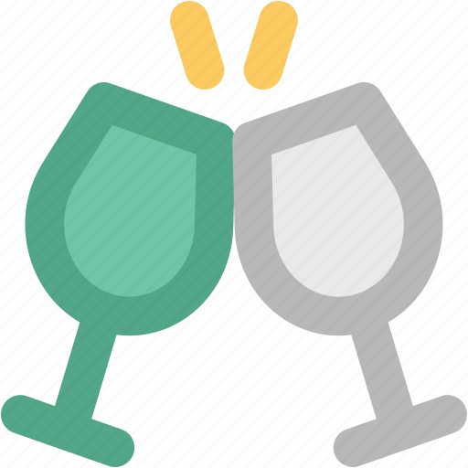 celebrations, cheers, drink glasses, party, toasting, wine glasses icon