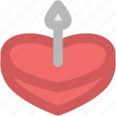 cake, cake with candle, celebration, dessert, valentine cake icon