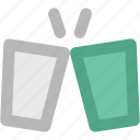 beverage, celebration, champagne, cheers, drink, party, toasting glasses icon