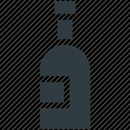 alcohol, bottle, champagne, champagne bottle, drink bottle, wine bottle icon