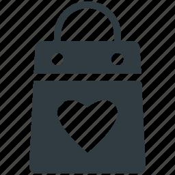 heart bag, shopper bag, shopping bag, tote bag, valentine shopping icon