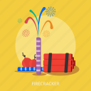 dynamite, firecracker, fireworks, holiday, party icon