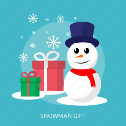 cold, hat, ice, snow, snowman gift, winter icon