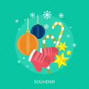 candy, gloves, lamp, snow, souvenir, star icon