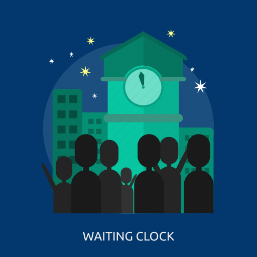 happy new year, new year countdown, party, people, time, waiting clock icon
