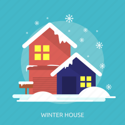cold, house, ice, snow, winter icon
