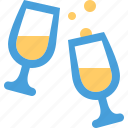 alcohol, celebration, champagne, drink, glasses, party, wine icon