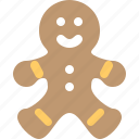 biscuit, christmas, cookie, gingerbread, gingerbread man, sweet, xmas icon