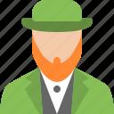 hat, holiday, irish, leprechaun, saint, shamrock icon