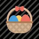basket, easter, egg, shopping, store icon