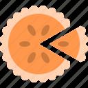 pumpkin, food, pie, halloween