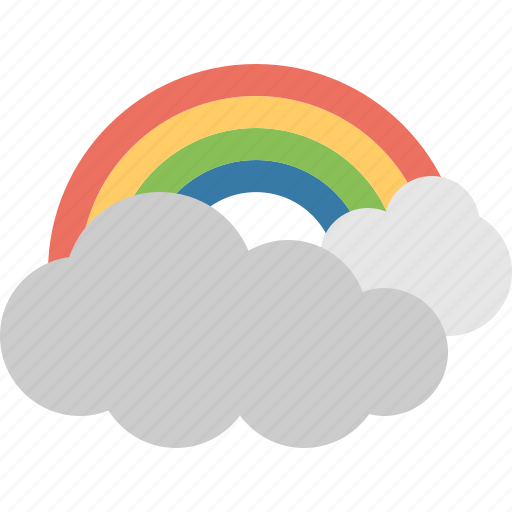 Rainbow, cloud, colorful, forecast, rain, sky, weather icon - Download on Iconfinder