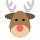 christmas, deer, new year, rudolph, santa, winter, xmas icon