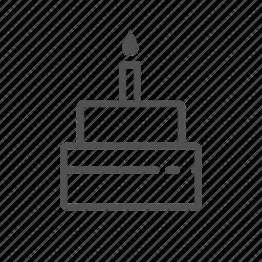 birthday, cake, celebration, christmas, party icon