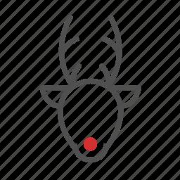 animal, celebration, christmas, rudolph icon