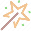 fairy wand, magic wand, magical stick, magical wand icon