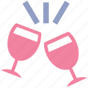 alcohol, beverage, champagne, drink, toasting, wine, wine glass icon