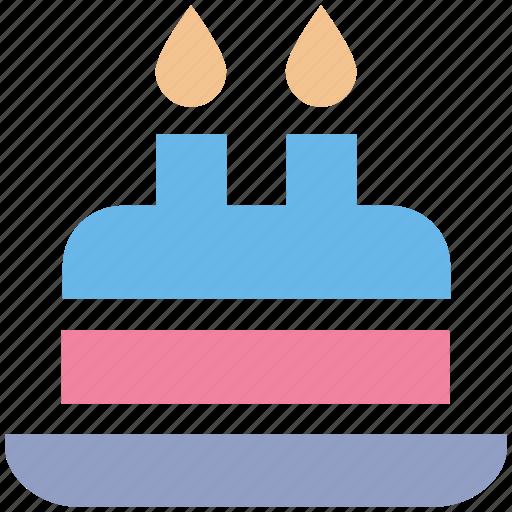 birthday, birthday cake, cake, cake with candle, dessert, sweet icon