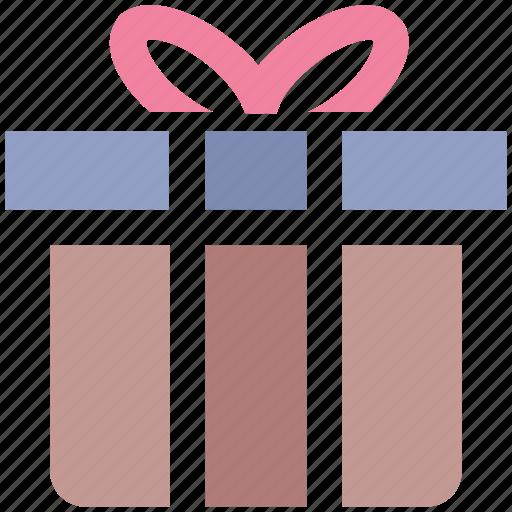 birthday gift, gift box, present, present box, wrapped gift icon