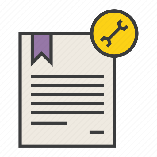 certificate, configure, document, guide, options, preferences, settings icon