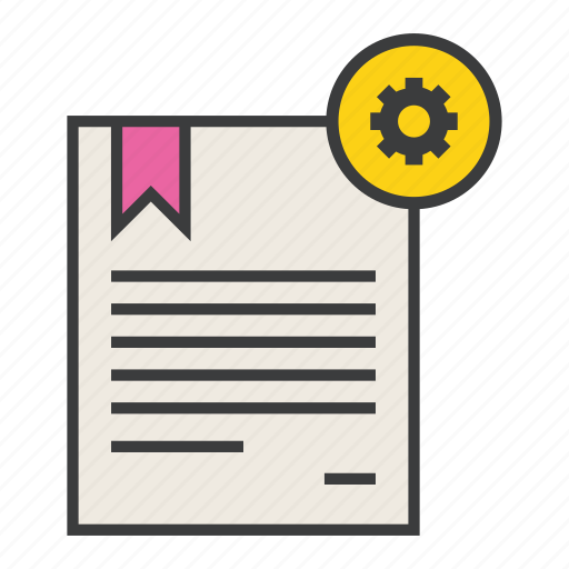 certificate, configure, document, manual, options, preferences, settings icon