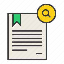certificate, document, find, locate, manual, rules, search icon