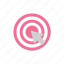 accept, aim, archery, center, goal, objective, success, target, valid icon