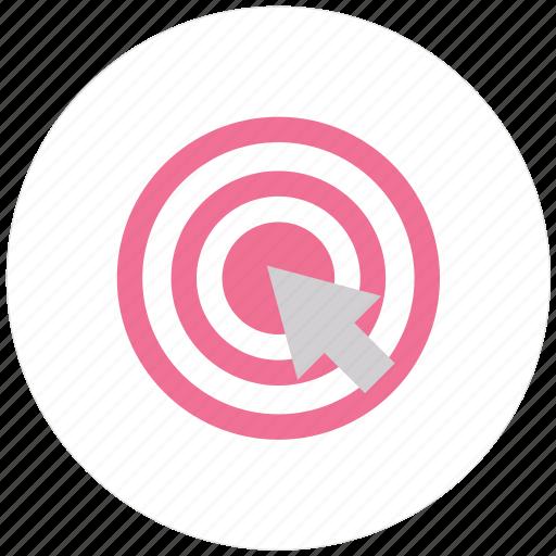 accept, aim, archery, center, goal, objective, success, target, valid icon
