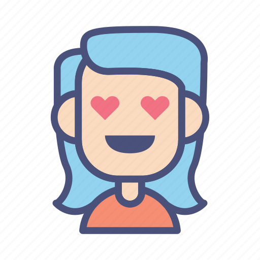 avatar, character, female, love, people, user, woman icon